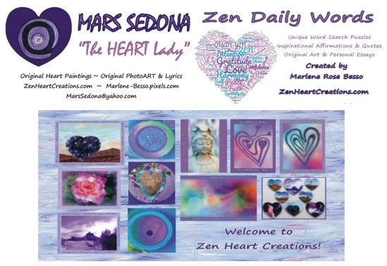 Follow Our Zen Contact Us Zen Daily Words Zen Heart Creations